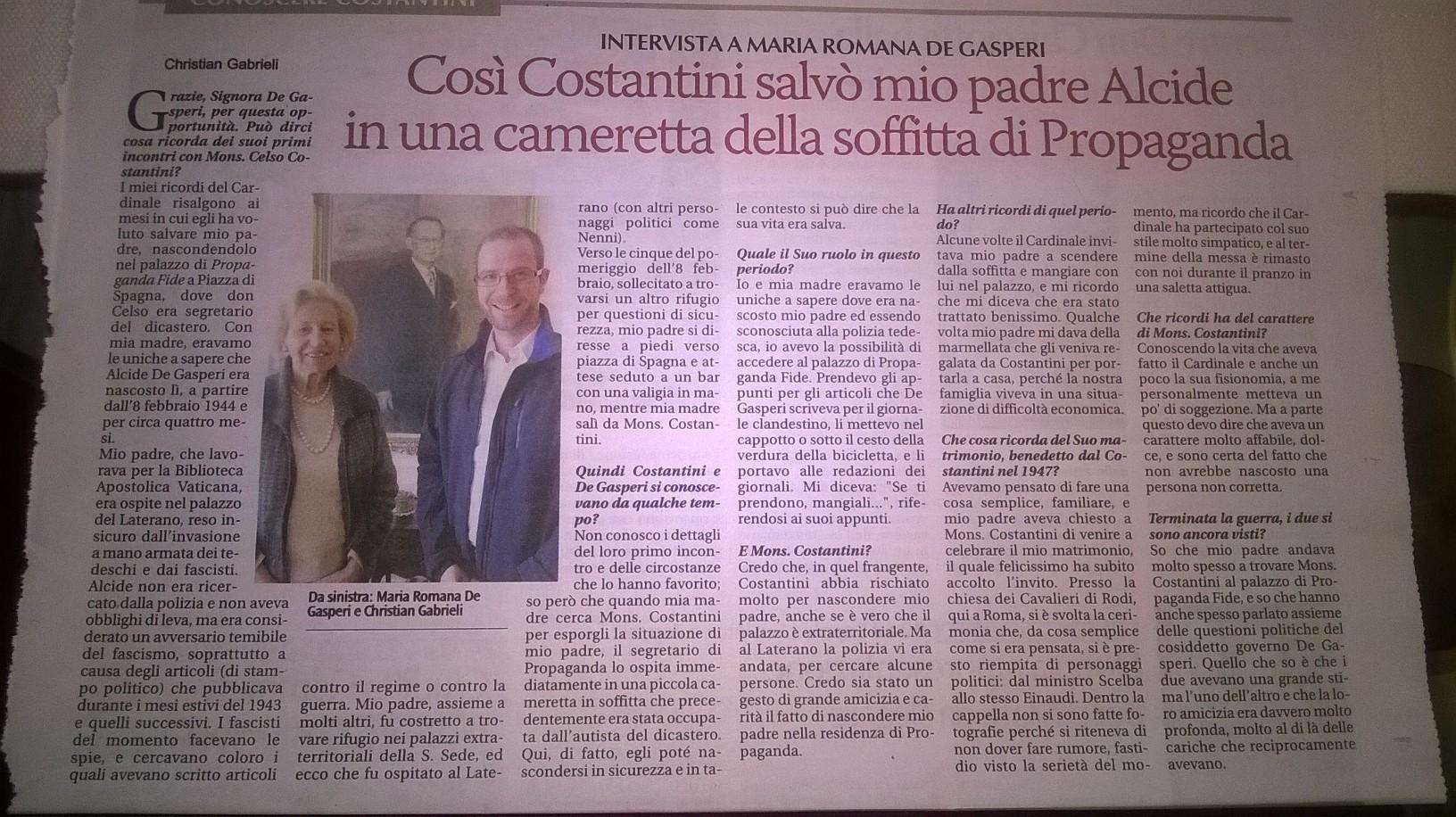 Costantini e Alcide De Gasperi